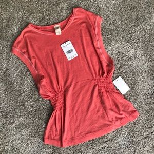 NWT Free People Blouse in Cherry